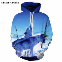 Galaxy Animal 3D Hoodies Men Women Winter Autumn Harajuku Style Sweatshirt Print Hoody Outfits Casual Plus