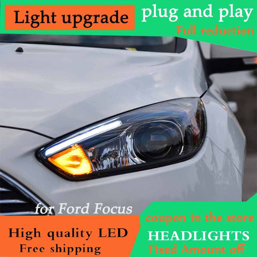 D YL Car Styling for Ford Focus 3 LED Headlights 2015 2016 for focus ST Style