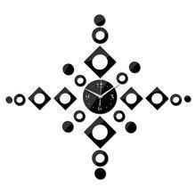 Новое поступление акриловое зеркало настенные часы иглы украшения дома современный дизайн diy наклейки часы