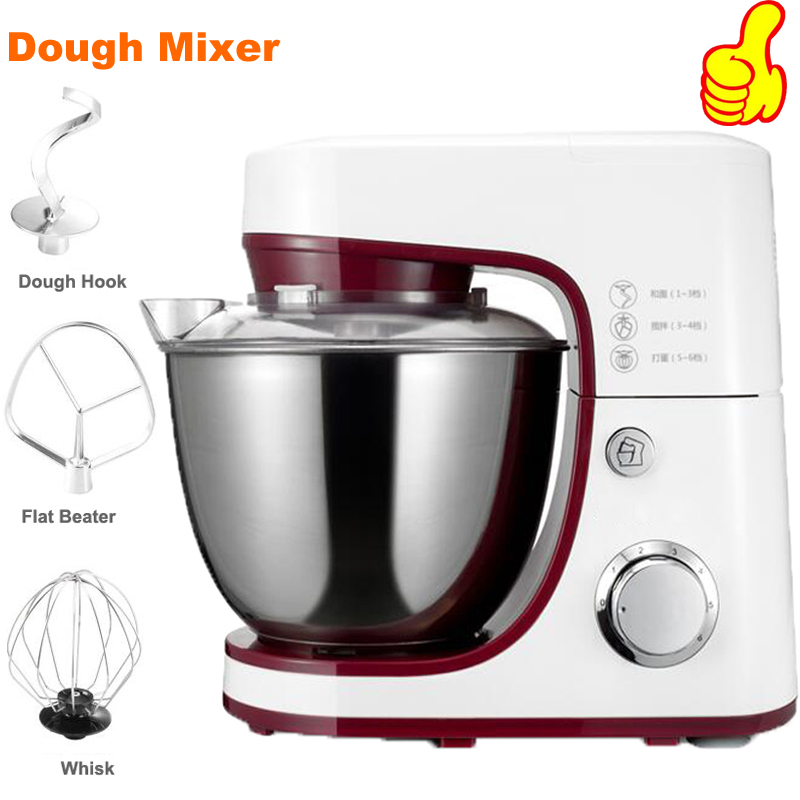 Free shipping 1000W Electric Dough Mixer Professional Eggs Blender 4.2L Kitchen Stand Food Milkshake/Cake Mixer Kneading Machine slimming v neck rivet embellished short sleeve t shirt for men