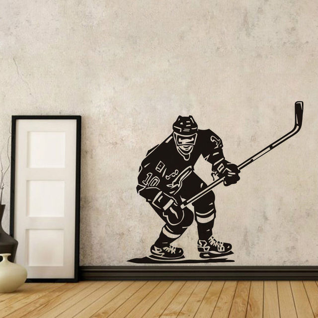 Eishockeyspieler Wandaufkleber NHL Sport Boy Zimmer Wandbild Decor ...