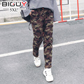100KG Plus Size Fashion Women Camouflage Pants Women's Army Cargo Pencil Pant Cotton Waist Ladies Trousers For Women 4XL KZ723