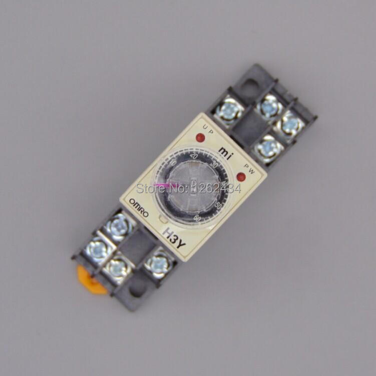 US $3 0 |1 0~60Min H3Y 2 Power On Time Delay Relay Solid State Timer 60Min  12V/24V/36V/110V/220V Please tell us the voltage!-in Relays from Home