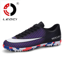 LEOCI New Football Boots Men Turf Soccer Shoes Trainer Mens Soccer Cleats Chuteira Futebol Original Football Sneakers Size 39-44