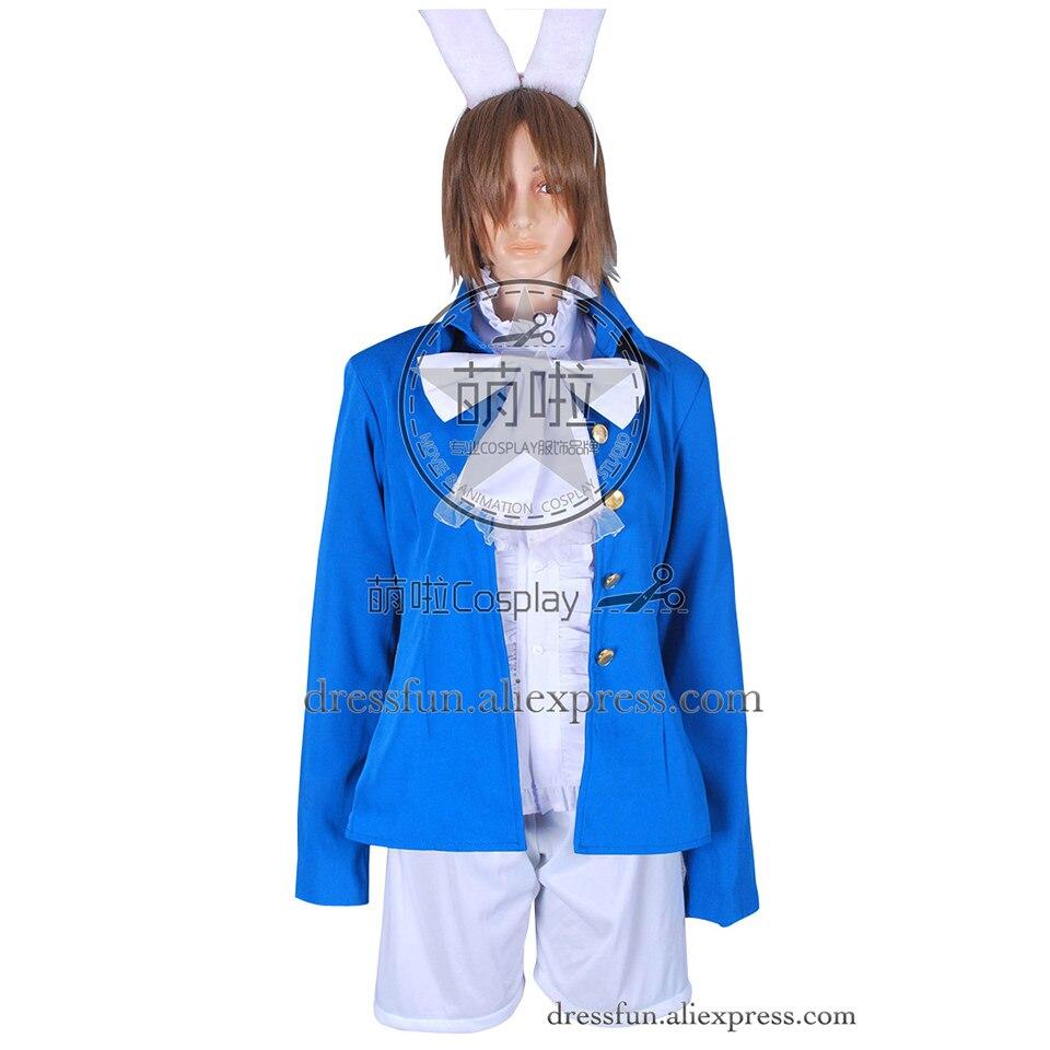 Alice au pays des merveilles Cosplay Alice Costume bleu tenues ensemble complet expédition rapide chemise manteau Halloween beaux vêtements Shorts