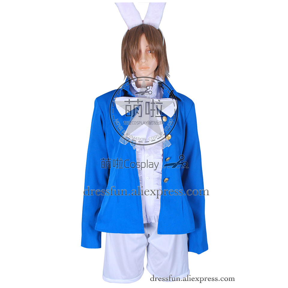 Alice In Wonderland Cosplay Alice Costume Blue Outfits Full Set  Fast Shipping Comfortable Halloween Beautiful Clothing