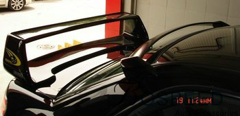 Convient à l'aile arrière en fibre de carbone modifiée impreza 8-9 avec aile de becquet arrière