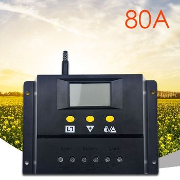 80A Solar Charge Controller 12V/24VDC PWM Battery Charger Regulator 960W/1920W