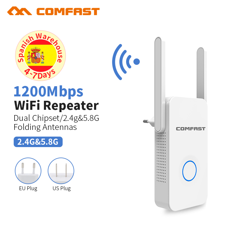 Comfast 1200Mbps Wireless WiFi Gigabit Repeater WiFi Signal Amplifier, Wireless Router Long WiFi Range Extender Extender Router купить в Москве 2019