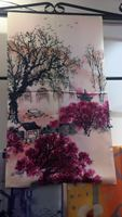 2018 Silk Scarf Women Scarves Bandana Luxury Brand Printing Fashion Scarf Silk Shawl 100% 175*52cm