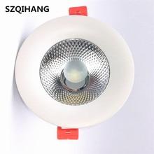 Venda quente pode ser escurecido cob led downlight luz de teto 7w 10 15 20 teto recesso luzes iluminação interior