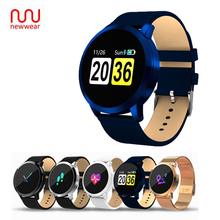 Newwear Q8 OLED Bluetooth Smart Watch Stainless Steel Waterproof Wearable Device Smartwatch Wristwatch Men Women Fitness Tracker