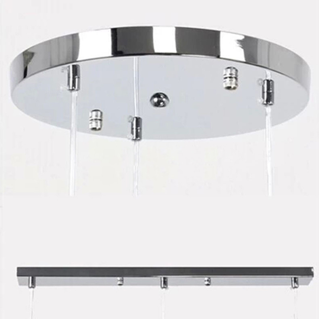 One Three Lamps Chandeliers Ceiling Plate Base High Grade