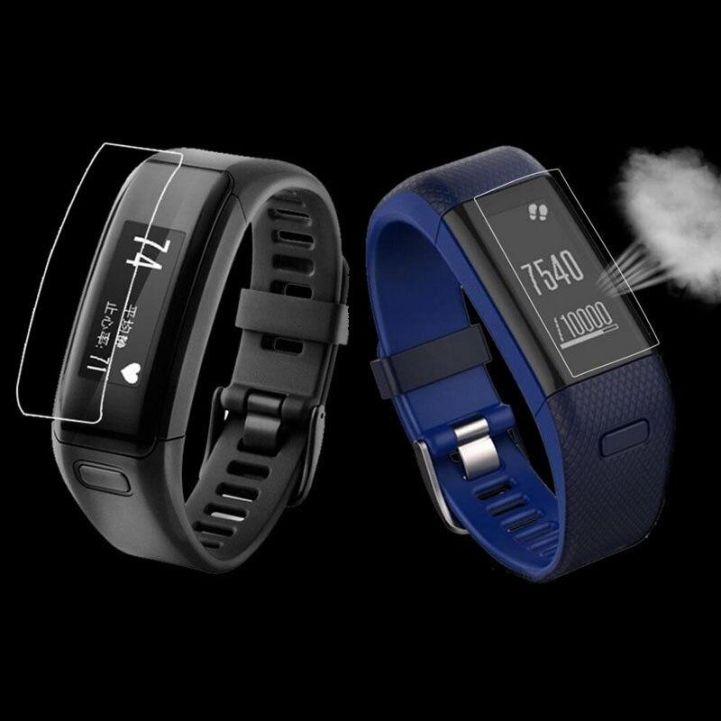 2pcs Anti-shock Soft TPU Clear Protective Film For Garmin Vivosmart HR / HR+ Plus Smart Wristband Full Screen Protector Cover