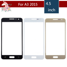 10pcs/lot For Samsung Galaxy A3 2015 A300 A300H A300M A300F Front Outer Glass Lens Touch Screen Panel Replacement цена