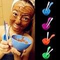 4 в 1 Женщины Леди Beauty Girls Макияж DIY Маска Для Лица Миске Кисть Spoon Stick Уход За Кожей Лица Макияж Косметические Инструмент набор
