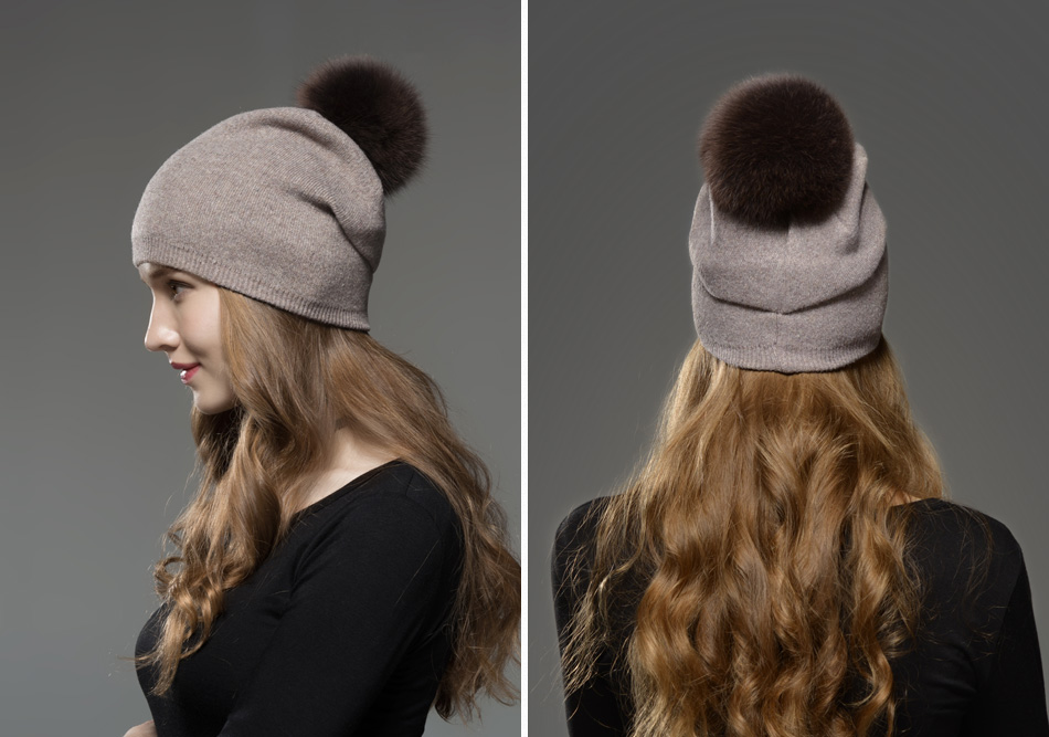 Mosnow Hat Female Women Raccoon Wool Fox Fur Pom Poms Warm Knitted Casual High Quality Vogue Winter Hats Caps Skullies Beanies1 (12)