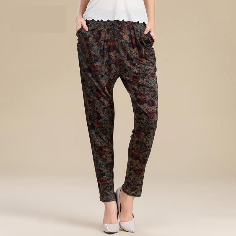 Kadın Giyim'ten Pantalonlar ve Kapriler'de Yaz Harem Pantolon Pantolon 100% GERÇEK Ipek Pantolon Büyük Boy Kadın Eğlence Pantol'da  Grup 1