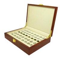 Caixa de Presente abotoaduras 20 pares anel Capacidade Caixa De Madeira Pintada de Alta Qualidade Autêntico 240*180*55mm
