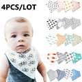 4pcs/lot Baby bibs For Boy&Girl burp cloths bandana bibs baby bandana Infant Waterproof Dribble Bibs Bandanas Free shipping