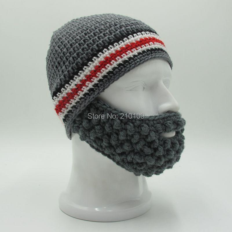 2a6a4bd3c1004 Women Yellow Ski Mask. Kooky Cool Funny Full Beard Stripe Hats Handmade