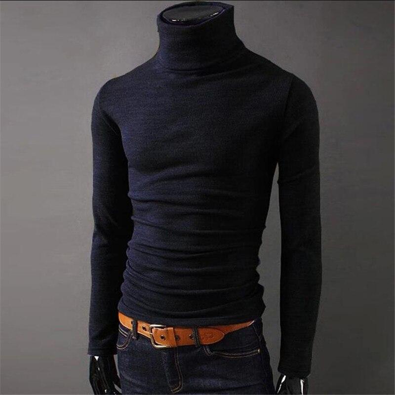 2017 Neue Männer Winter Warm Rollkragen Pullover Thermische Pullover Multi Farbe Option Solides Design Weich Und Warm Kostenloser Versand T6740