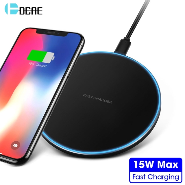DCAE 15W Qi Wireless Charger For Samsung S8 S9 S10 iPhone X XS MAX XR 8 11 for Xiaomi Mi 9 Huawei P30 Pro 10W Fast Charging Pad 1