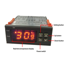 Stc-800 Aquarium Incubator Seafood Machine Electronic Number Microcomputer Temperature Controller Refrigeration and Heating microcomputer temperature controllers for mobile cold room or island freezer and deli cabinet in supermarket