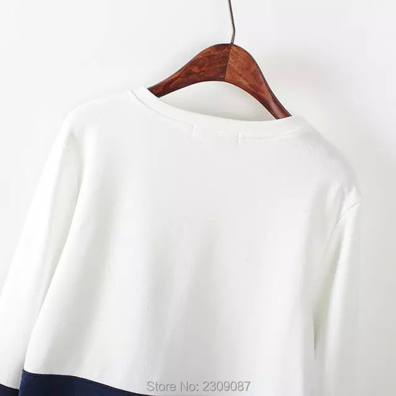 Hoodies & Sweatshirts Delicious New Fashion Harajuku Patchwork Hoodie Womens Long Sleeve Hoodies With Cat Embroidery Hoodies Sweatshirts Kawaii Pullovers Tops