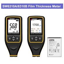 SW6310A/6310B автомобильный измеритель толщины плёнки тестер толщины покрытия измерения Толщиномер цифровой портативный мини толщиномер тестер