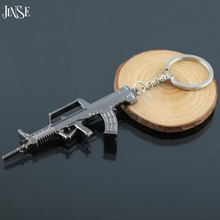 2016 personality Popular Hot Game Cross Fire Weapon Gun Key Chains Wholesale Cool CF Metal Keychains Rings For Men Jewelry