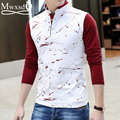 2016 casual men's cotton polo shirt long sleeve Men Brand printed Slim Fit high quality Polo camisa polo masculino