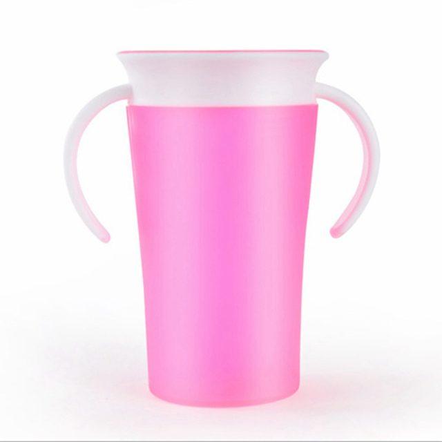 Волшебная герметичные посыпать Питьевая чашка детская 361 градусов кружка-непроливайка стакан-непроливайка