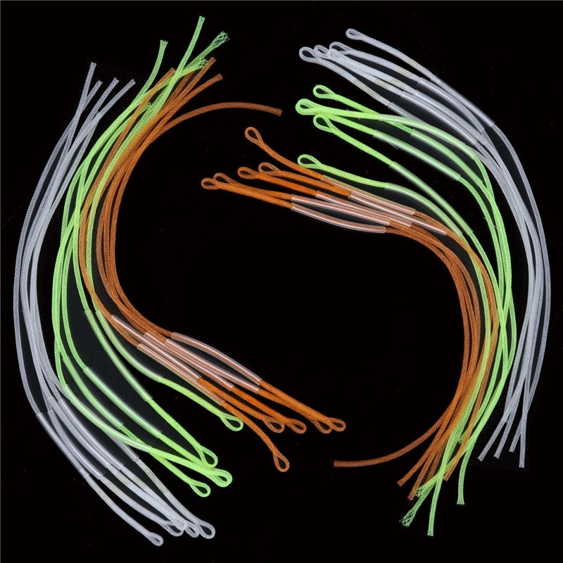 NEW 10pcs Fly Fishing Braided Loop Connector Leader Loops For Fly Line 16cm
