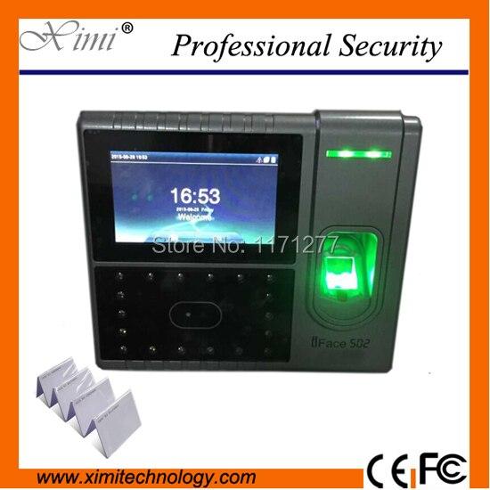 RS232 и 485 смарт часы посещаемости iface502 распознавания лица и отпечатков пальцев контроля доступа, rfid карты управление электронное оборудовани