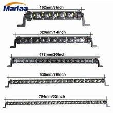 Marlaa 30w 60w 90w 120w 150w âmbar branco 6d fora de estrada única barra de luz da fileira conduziu a lâmpada ip67 impermeável para o caminhão suv 12v 24v
