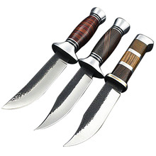 PEGASI Outdoor Knives 3 Colors 440 Stainless Steel Wooden Handle Fixed Blade Knife Wilderness Survival Necessary Knives