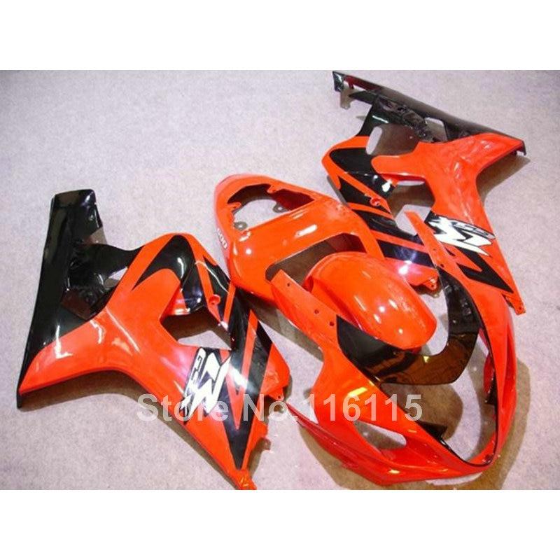 Top quality fairing kit for SUZUKI GSX-R600 750 K4 2004 2005 fairings GSXR600 GSXR750 04 05 red black   Q760
