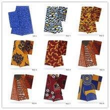 Hot sale soft african wax Silk Satin fabric 2019 high quality Cotton ankara 4+2 yard cotton 932