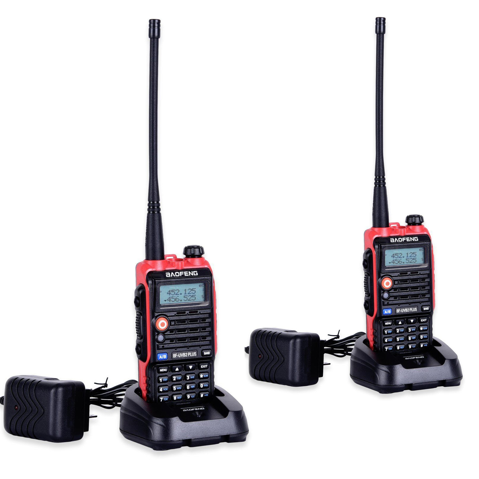 2PCS LED Light 4800mah Battery Bf Uvb2 Baofeng Uvb2 Plus For WalkieTalkie Cb Radio Mobile Comunicador