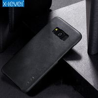 X Level Leather Phone Case For Samsung Galaxy S8 Plus Ultra Thin PU Back Case For