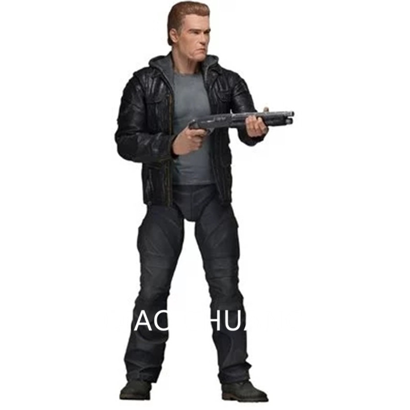 22CM America Scifi Action NECA 42186 Terminator Genisys Arnold Schwarzenegger T-800 Skeleton PVC Action Figure Model Doll G511 neca terminator 2 judgment day t 800 arnold schwarzenegger pvc action figure collectible model toy 7 18cm