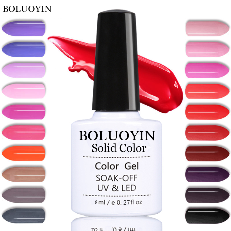 8ml Lucky Colors Gel Nail Polish Nails Art Vernis Long Lasting UV LED Gel Primer Semi Permanent Soak Off Gel Lacquer