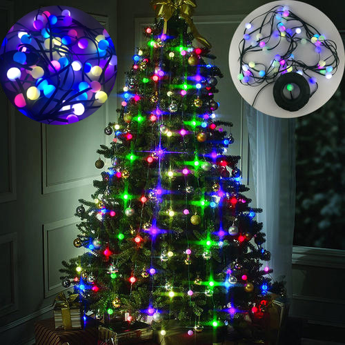 2017 new hot sale festival garden multi colored lights decor light bulb stackable christmas tree