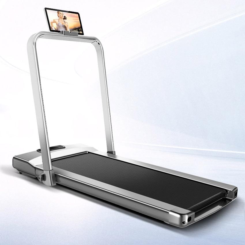 Tapis roulant électrique pliable avec Mini main courante entraînement électrique Fitness tapis roulant Intelligent détection du corps Fitness à domicile