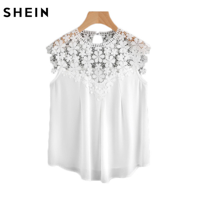 Daisy Lace Shoulder Blouses