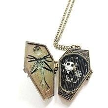 Reloj de bolsillo винтажные уникальные карманные часы ожерелье цепочка кварцевые карманные часы кошмар до Рождества подарки# D