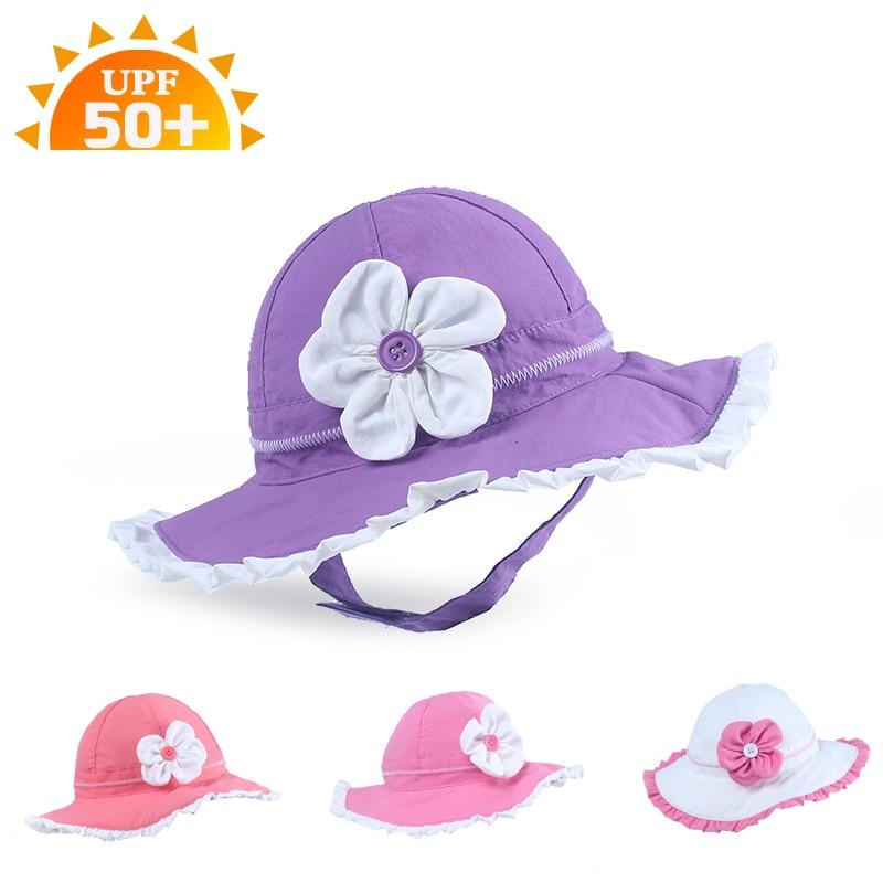High Quality Summer Baby Sunhat Stereo Flower Girl Baby Prevent UV Sun bonnet nylon Princess Hat Children Cap