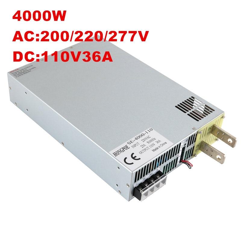 4000 W 110 V 36A DC 0-110 v alimentation 110 V 36A AC-DC Haute-Puissance PSU 0-5 V signal de commande analogique SE-4000-110