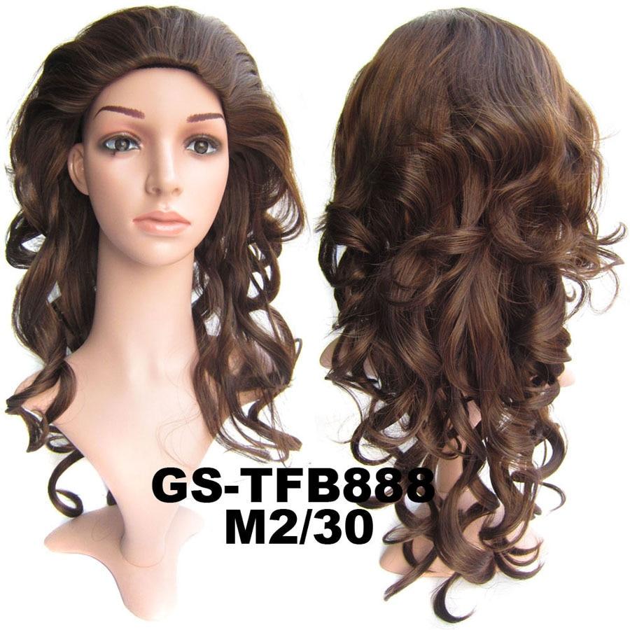 Soloowigs Wavy 3/4 Half Women Wigs High Temperature Fiber Blonde ...